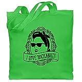 Shirtracer Rockabilly - I Love Rockabilly - Frau - Unisize - Hellgrün - Kopftuch - WM101 - Stoffbeutel aus Baumwolle Jutebeutel lange Henkel