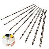 JAOMON 8 Stück Spiralbohrer HSS Schlangenbohrer Set Lang Holzspiralbohrer Twist Drill Set mit Durchmesser 4mm / 4.2mm / 4.5mm / 5mm / 5.2mm / 6mm / 8mm / 10mm