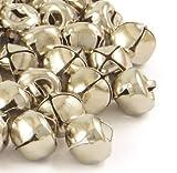 ❤️HobbyHerz 100 Stück kleine Glöckchen zum Basteln   Mini Glocken/Schellen aus Eisen (Silber, 10mm x 10mm)