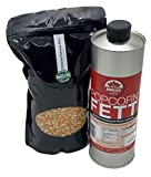 Popcornset Popcorn Fett Popcorn Öl 1 Liter feines Butteraroma halbflüssig top Angebot plus 1 Kg Premium Kinopopcorn