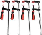 Schraubzwinge Set, F Klemmzwinge Temperguss Spannweite Holzbearbeitung F Clamps Bar Clamp Stahlmaterial DIY Handwerkzeug Kit (4pcs 50x300mm)