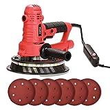 SPTA 850W DWS230A Deckenschleifer, Trockenbauschleifer, Wandschleifer, Durchmesser 180mm, inkl. Absaugschlauch, Fangsack, Soft-Griff, 4m Kabel