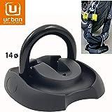 Urban Security UR55 Befestigung Bodenanker für Wandböden, hohe Sicherheit, Schwingring, Durchmesser 14 x 4 Dübel