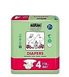 Muumi Baby Premium Öko Windeln - Größe 4, 7-14kg, 46 Stück
