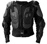 HUKITECH Protektorenjacke Brustpanzer Rückenprotektor (Größe XS) Schutzausrüstung für Fahrrad Bike Quad Motocross Motorrad - Protektor Protektoren Motorrad Jacke Motorradjacke