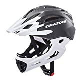 Cratoni C-Maniac Allround-Helm, Black-White Matt, S-M (52-56cm)