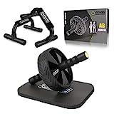 AB Roller Bauchroller AB Wheel Bauchtrainer Hochwertiger Abdominal Roller mit Knieauflage Bauchmuskeltrainer für Frauen und Männer