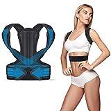 iThrough Haltungskorrektor, Upper Back Brace Schulter und Rückenstütze Brace - Verstellbarer Haltungsgürtel für Frauen, Männer und Jugendliche - Schmerzlinderung Brace für Schulter und Rücken