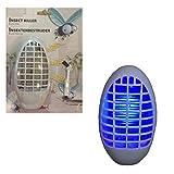 esto24® 2er Set Mückenstecker Nachtlicht mit 4 blauen LED's Licht Steckdose ohne Nachfüllen Mückenschutz Insektenschutz