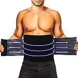 HLOMOM Rückenbandage für die Lendenwirbelstütze,Rückenstützgürtel mit Stützstreben und Verstellbare Zuggurte für Fitnessstudio, Haltung, Gewichtheben, Arbeit, Schmerzlinderung Rückenstütze(S-M)
