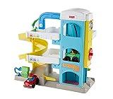 Fisher-Price FHG50 - Little People Parkhaus mit 2 Wheelies Fahrzeugen, Kleinkind Spielzeug ab 18 Monaten