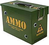 Combat Airsoft Army Style Ammo Tin Battery Storage BB's Magazines Green