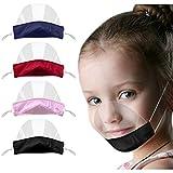 Rosennie 4 Stück Kinder Mini Face Visier Washable Transparente Mundschutz Wiederverwendbare Komfort Face Shields Bequeme Mundbedeckung für Jungen und Mädchen