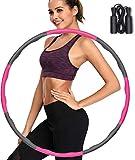 Hula Hoop Reifen, Fitness Hula Hoop zur Gewichtsreduktion und Massage, 6-8 Segmente Abnehmbarer Hoola Hoop für Erwachsene & Kinder