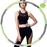 Aoweika Hula Hoop, Hula Hoop Reifen Erwachsene (1 kg/2,2 lbs) Einstellbare Breite (19-35 Zoll) Hula Hoop Reifen für Kinder/Erwachsene Indoor Outdoor Fitness Gymnastik, mit Mini-Maßband