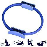 ShineBlue Pilates-Ring mit doppeltem Griff, zur Fettverbrennung, professioneller Yogakreis, leichter Pilates-Ring für Bauchmuskeln, Oberschenkel und Beine, blau