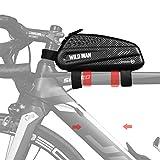BWBIKE Fahrrad Aufbewahrungstasche Fahrradrahmen Werkzeugtasche 1L Schwarz Mountainbike Tasche Oberrohr Radfahren Kraftstoffbeutel