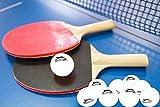 O&W Security Tischtennis-Set 2 Tischtennisschläger + 9 Tischtennisbälle Ping Pong Set 11 teilig