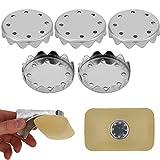 Seifen Ersatz Plättchen für Magnet Seifenhalter, 5 x Seifenmagnete Platten, aus Rost-freiem S.S.302 Edelstahl, für magnetische Seifen Halterung, zum Reindrücken in jede Seife, für Magnet Seifenschale