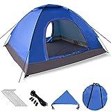 XDDIAS Pop up Zelt 200cm x 200cm x 150cm, Tragbares Strand-Zelt mit LSF50+ UV-Schutz für Outdoor Sport Camping Wandern Reisen Strand 2-4 Person