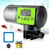 Cenblue Futterautomat Aquarium,Fischfutterautomat Automatischer Fischfutterspender 200ml Kapazität Automatisierte Futterspender Mit Digitaler Timer und Fisch Fütterung Ring