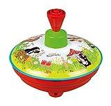 Lena 52449 Brummkreisel Ø13 cm Der kleine Maulwurf, Metall Kreisel, Schwungkreisel aus Blech, klassischer Pumpkreisel, Blechkreisel mit Spitze, Spielzeugkreisel für Kinder ab 18 Monate