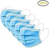 Mundschutz Maske OP-Maske Gesichtsmaske Einweg-Masken 3-lagig 50 Stück Blau, Staubschutz Infektionsschutz Schutzmaske Atemschutzmaske mit Ohrschlaufen schützt vor Verschmutzungen