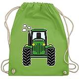 Shirtracer Andere Fahrzeuge - Traktor Front - Unisize - Hellgrün - turnbeutel kindergarten traktor - WM110 - Turnbeutel und Stoffbeutel aus Baumwolle