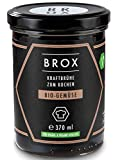 BROX Kraftbrühe Bio-Gemüse (6x370ml) - 100% Vegan - 3 Stunden gekochtes Gemüse und Pilze - Das ursprünglichste Superfood!