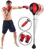 Punchingball Standboxsack Boxsack Set Höhenverstellbar Sandsäcke Punchingbälle Boxen Boxstand Punching Stand Punchingball Set mit Boxhandschuhen Pumpe für Einsatz im Fitness-Studio sowie zu Hause