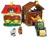 Dickie Toys 203818000 Happy Farm House, Bauernhof, Set für Kinder ab 1 Jahr, Traktor, mit Tieren, Licht & Sound, Mehrfarbig