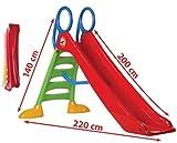 thorberg MEGA große Rutsche mit 200cm Rutschbahn mit Wasseranschluss Kinderrutsche