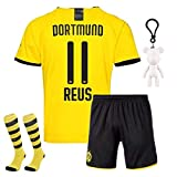 Langston Jungen Trikots Fußball für Kinder Reus Haaland Borussia Dortmund BVB 2019-2020 T-Shirt & Shorts mit Socken