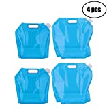 Tebery 4 x Wasserkanister faltbar Tragbar Faltbarer Trinkwasser [2x5L + 2x10L] Wasserbehälter Wasse