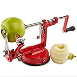 Apfel/Kartoffel-Schälmaschine 3-In-1-Multifunktions-Manuelle Schäler Schneiden Obst/Peeling / Slice Für Küche Verschiedene Obst Und Gemüse (Rot)