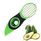 JOJYO Avocadoschneider,Avocado Schneider 3 in 1 Grün Obst Schneider Küchenschneider Obstschäler für Fresh Avocado Saver in Haushalt Küche