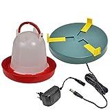 VOSS.eisfrei Set Tränkewärmer + 1,5 Liter Geflügeltränke mit Bajonettverschluss