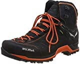 Salewa Herren MS Mountain Trainer Mid Gore-TEX Trekking-& Wanderstiefel, Asphalt/Fluo Orange, 44 EU