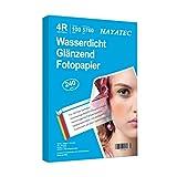 100 Blatt fotopapier 10x15 hoch glänzend tintenstrahldrucker 240g/m² Photopapier Fotokarten Photokarten Sofort Trocken Wasserfest Hochweiß