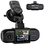 Campark Dashcam Dual FHD 1080P Vorne und Hinten, Autokamera mit GPS, Akku und IR-Nachtsicht, 170° Auto Camera, 1,5' IPS Dash Cam mit G-Sensor, Parküberwachung Loop-Aufnahme 256GB Unterstützt