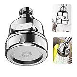 Küchenarmatur 360 Grad drehbarer Kopf ,Wasserhahn Luftsprudler ,Wassersparvorrichtung mit 3 Wasserauslassmodi,Wasserhahnspritze,Geeignet für Küche und Bad