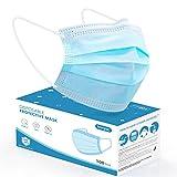 Einwegmasken 100 Stück Mundschutzmasken 3-lagig, konjac Einweg Masken Mundschutz Gesichtsmasken Mund Nasen Schutzmaske für Erwachsene, Einmalmasken aus Vliesstoff atmungsaktive Einweg Mundbedeckung