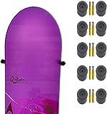 Snowboard-Wandhalterung, zum Aufhängen, Snowboard-Aufbewahrung, schwebender Kleiderbügel – unsichtbares Design – hält 5 Snowboards mit oder ohne Bindungen – schützt das Snowboard – keine Kratzer