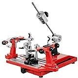 VEVOR Tennis Besaitungsmaschine Tischtennisschläger Tennis Stringer Schläger Besaitungswerkzeuge Kurbel Besaitungsmaschine Aufspannmaschinen Tragbarer Werkzeuge Set(Rot)