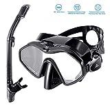 SKL Schnorchelset Taucherbrille mit Schnorchel für Erwachsene Professionelle Schnorchelbrille Erwachsene Schnorcheln Tauchmaske Gehärtetes Glas