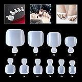 Mwoot 500 Stück voller Falsche Nagel Tips Zehennägel Fußnägel Tips, Natürliche Künstliche Zehen Fußnägel Set DIY Fake Toenails [10 Größen zu je 50 Stück]