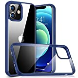 TORRAS Diamond Series für iPhone 12 Hülle/iPhone 12 Pro Hülle [Vergilbungsfrei] Stoßfest iPhone 12 Case/iPhone 12 Pro Case Hard Back & Silikon Bumper Handyhülle iPhone 12 /iPhone 12 Pro - Blau
