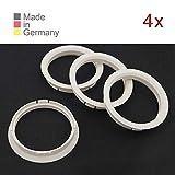 KONIKON 4X Zentrierringe 72,50 x 65,10 mm Weiß Felgen Ringe Radnaben Zentrierring Adapterring Ring Felgenring Distanzring Made in Germany