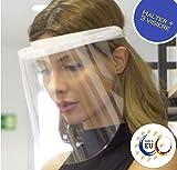 Fredo® Ergonomisches Visier aus Kunststoff - Face Shield - Aufklappbar Visier - 1 x Halterungen mit je 3 Wechselfolien