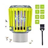 BASEIN UV Insektenvernichter, Elektrisch Mückenfalle, Bug Zapper, 3 in 1 IP67 Wasserdicht Moskito Killer Licht mit Camping Lampe und Taschenlampe gegen Mücken, Fliegen, Moskitos für Innen und Außen